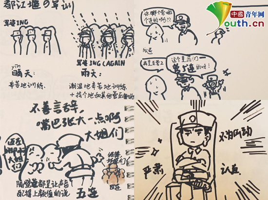 图为梁舒彤的部分手绘作品.中国青年网通讯员 张珑潆 提供