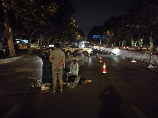 郑州男子金水路骑电摩被撞身亡