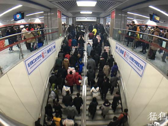 郑州地铁南四环站到孟庄站区段, 元旦过后发车间隔有调整