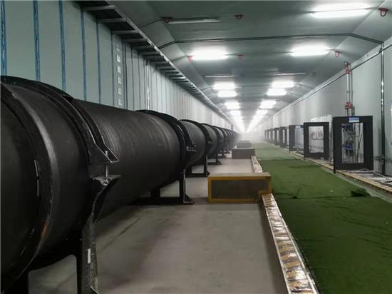 (位于科学大道综合管廊内的东周水厂调水工程输水管道)