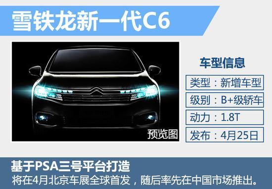 雪铁龙3款新车4月25日首发 含国产电动车高清图片