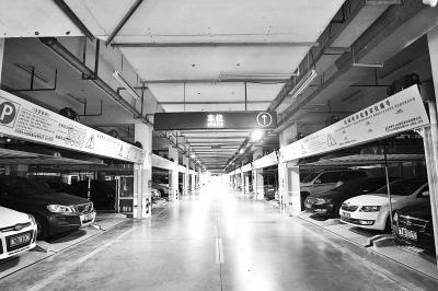 CBD4号停车场的负一层使用率比较高,负二层车停得少。