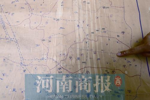 1969年的郑州手绘地图显示当年的郑汴路跟现在差别很大