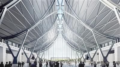 顶间的玻璃部分及屋顶构件的天窗使室内光线充足