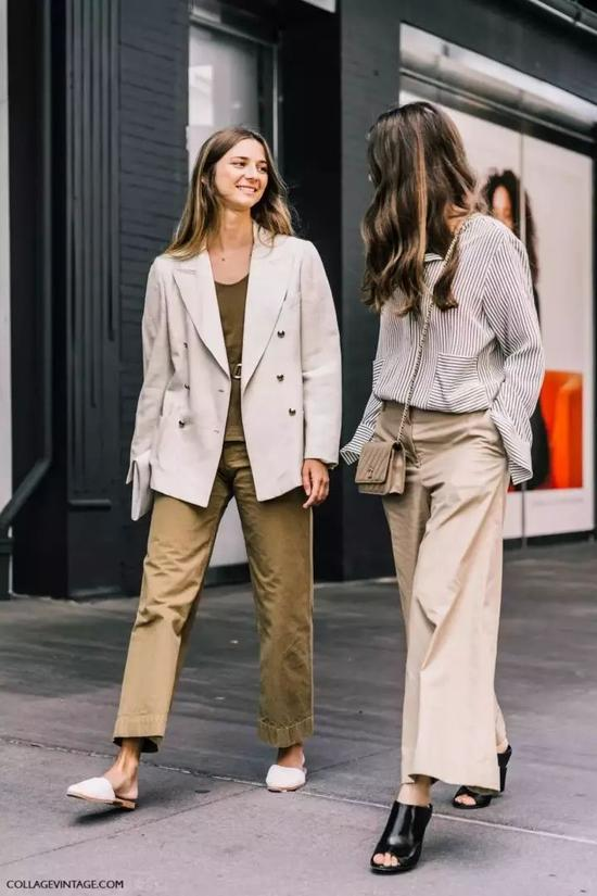 绿色大衣外套+白色内搭,有品又登对的情侣穿搭套路轻松get。
