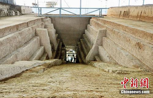 资料图:曹操墓墓道。