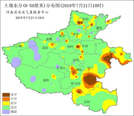 2019年7月21日10时土壤水分分布图
