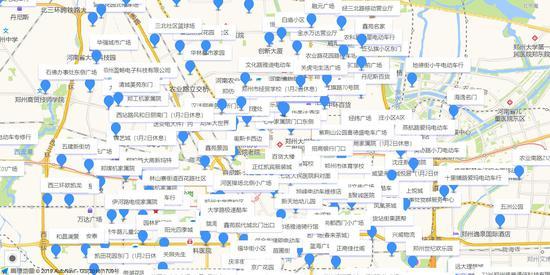 郑州市上牌点增至355个 其中市区218个