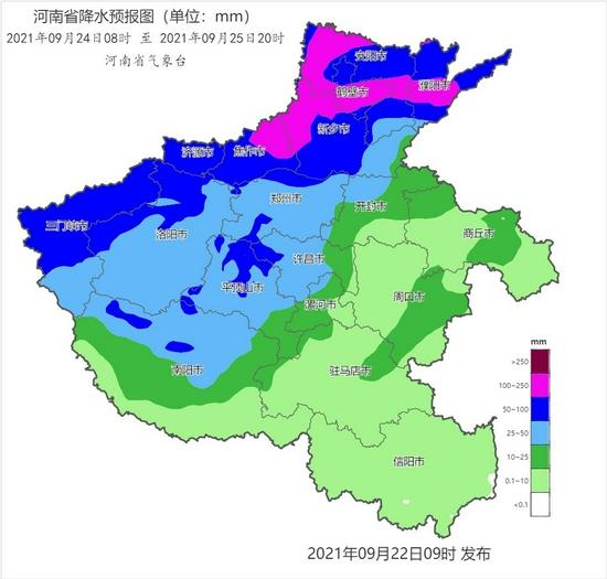 注意!23日到28日河南西部北部多阴雨天气