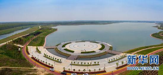新蔡东湖水库。 彭可 摄