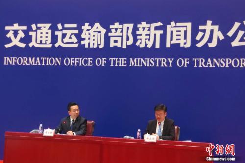 6月11日,交通运输部新闻发布会现场。张旭 摄