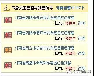 6月2日河南包揽全国高温榜前十名 6-8日高温天气将缓解