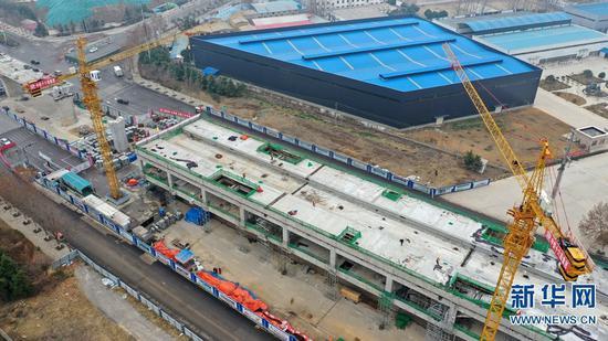 河南许昌:郑许市域铁路项目复工