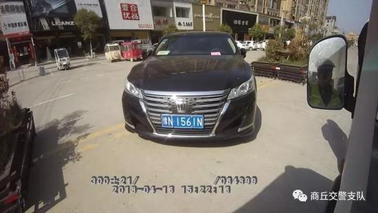 违法车辆:豫N1561N