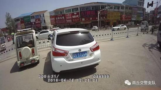 违法车辆:豫N84666
