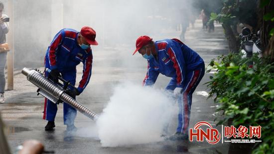 郑州组建881支消杀队伍开展汛期病媒生物防制
