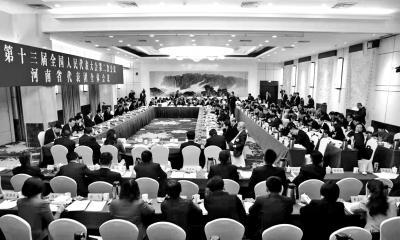 河南代表团审议外商投资法草案