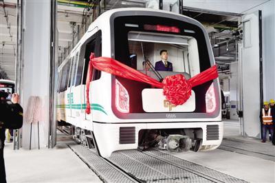去年底地铁5号线开始试运行(资料照片) 记者 白韬 图