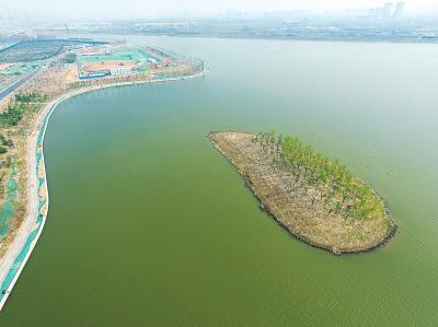 八百多亩圃田泽现郑州东五环 将是环城生态水系起点