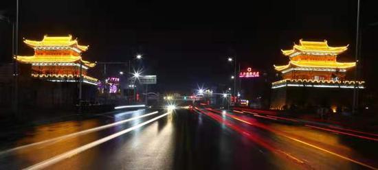 开封杞县城市夜色绚丽多彩(图)