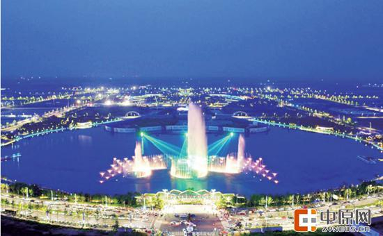 灯火璀璨的双鹤湖中央公园 马国樑、岳磊 图
