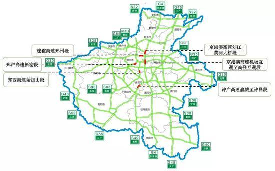 图2。端午假期高速易拥堵路段预测分布图
