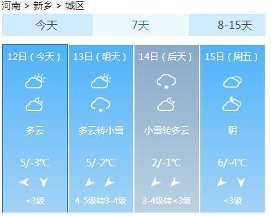 鹤壁:明天小雪
