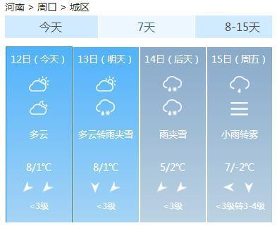 信阳:明天雨夹雪