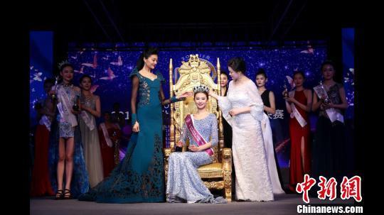 2017世界旅游小姐中国区总决赛29日落幕,河南选手曹灿荣获冠军。 齐建文 摄