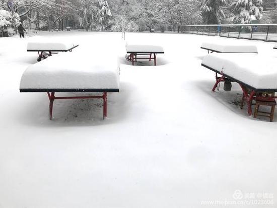 降雪实况及积雪深度