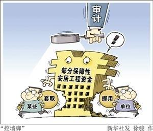 河南查出安居工程领域违规资金超5.5亿元