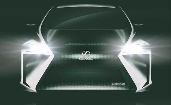 雷克萨斯纯电动概念车预告图曝光