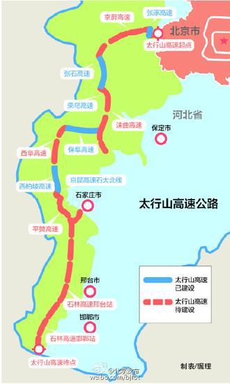 太行山高速公路线路图