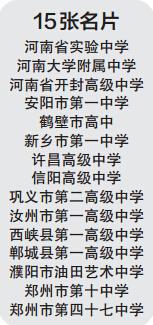 15所高中获河南教育名片称号