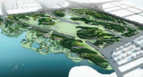 龙湖旁规划的凤山效果图,这里将是新的郑州森林公园图片