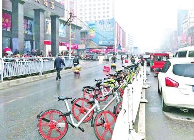 共享单车已融入市民的生活,但带来的一系列问题也不容忽视。记者白周峰张琮摄影