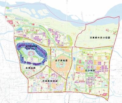 郑东新区5大组团布局图