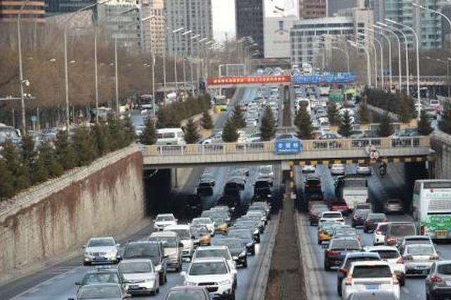 资料图:北京高峰时段交通压力较大。中新网记者 金硕 摄