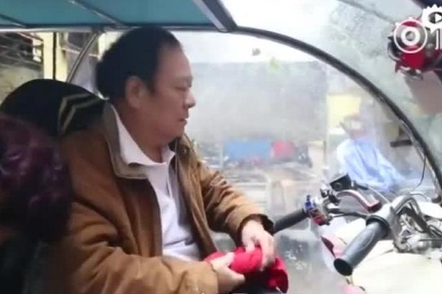 郑州6旬中风大爷 独驾三轮去三亚过冬