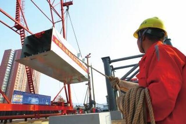 郑北大桥多项指标均为国内之最 首节钢梁吊装到位
