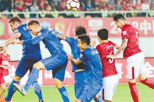 河南建业一球小负广州恒大 月底将迎来保级对手一方