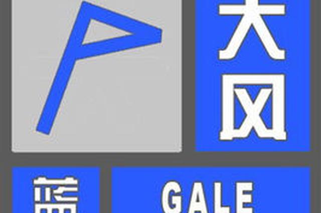河南发布大风蓝色预警 局地阵风6到7级