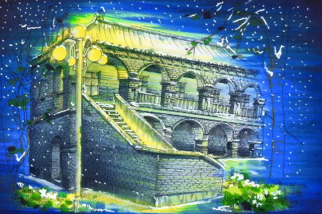 惊呆了!河南大学生用钢笔手绘校园美景 如此惊艳