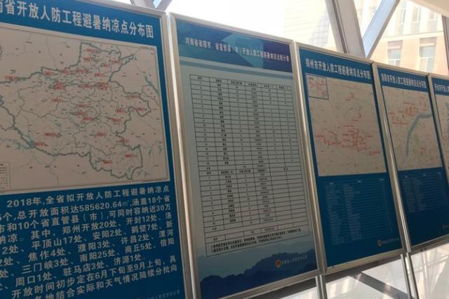 河南185个人防工程纳凉点免费开放 郑州开放20处