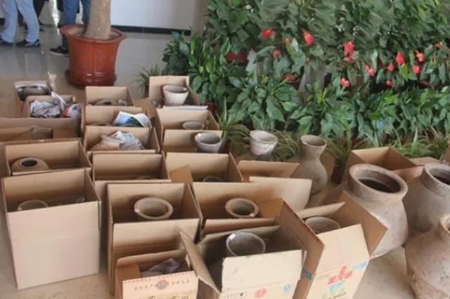 洛阳警方破获一起盗窃文物案件 追回多件汉代土陶