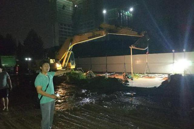 野蛮施工 郑州同一处自来水连续两天被挖断