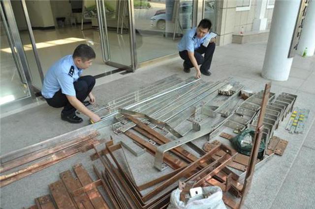 中牟价值百万配电房铜板一夜被盗 赃物被卖废品站