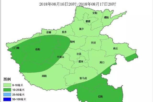 河南今起将迎新一轮风雨 今夜5地区迎中雨局部暴雨