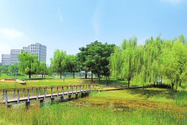 组图:郑东新区湖光秋色