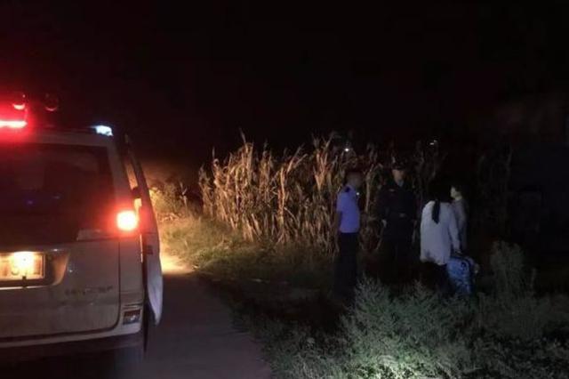 夜晚九点禹州一女学生错过回家车辆 蹲在乡间路边哭泣